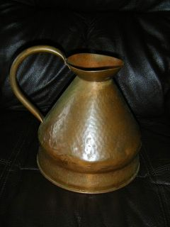 antique copper large pitcher hammered finish hand formed made in