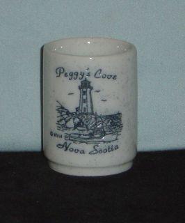 Peggys Cove, Nova Scotia, Canada with Lighthouse on 1oz Ceramic Shot