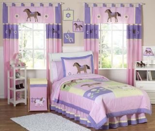 JOJO DESIGNS PINK BROWN WESTERN HORSE COW GIRL KIDS FULL QUEEN SIZED
