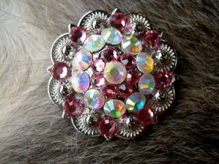 AB CRYSTALS BERRY CRYSTALS RHINESTONE BLING CONCHOS HEADSTALL #001