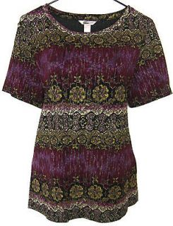 New Holiday Cranberry Olive Violet Gold Top Womens Plus Size 1X 2X 3X