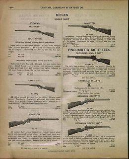 1933 AD Benjamin Air Rifle #300 #700 Crosman Pheumatic BB Gun
