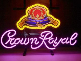 New Crown Royal Whisky Neon Light Sign Gift Clubs Display Pub Beer Bar