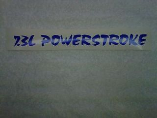 3L Powerstroke Vinyl Hood Decals Ford Diesel