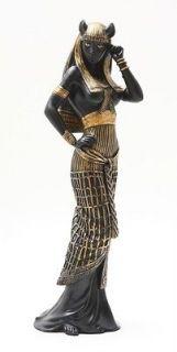 ANCIENT EGYPTIAN LARGE GODDESS BASTET STATUE CAT HUMAN FORM DEITY