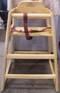 Newly listed NEW Natural High Chair, Knocked Down