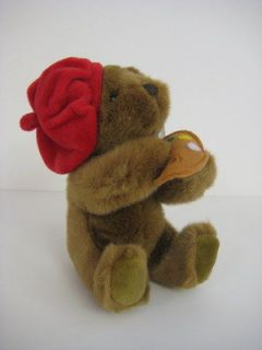 BROWN PLUSH ARTIST TEDDY BEAR NWT stuffed animal NEW Stocking
