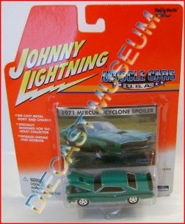 1971 71 MERCURY CYCLONE SPOILER MUSCLE CARS JOHNNY LIGHTNING JL