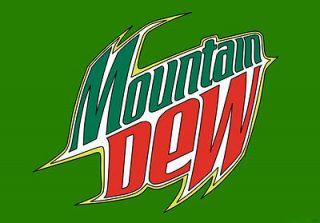 Mountain Dew Logo Drink Bumper Sticker 5 x 4