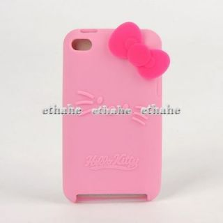Hello Kitty For iPod Touch iTouch 4 Silicone Case Cover Protector Pink