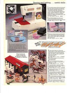 80s Vintage Breyer Horses Stable Set Catalog Ad~Precipitado Sin Par