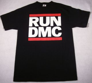 RUN DMC JMJ Retro T shirt New Rap Hip Hop Tee Black SzM