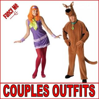 Dress Mens Scooby Doo & Ladies Daphne Fancy Dress Costumes Outfits