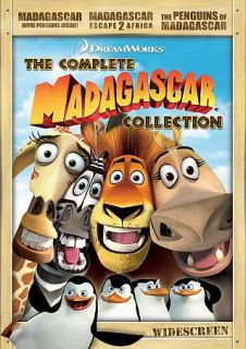 Madagascar The Complete Collection DVD, 2009, 3 Disc Set, Sensormatic