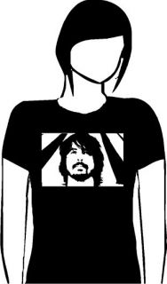 DAVE GROHL (FOO FIGHTERS) TRIBUTE LADIES ROCK T SHIRT