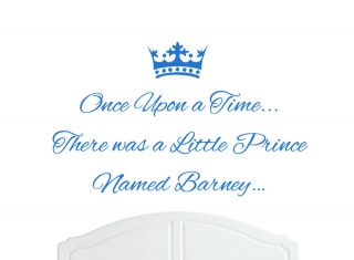 Once Upon a Time Prince Barney Wall Sticker Decal Bed Room Nursery Art