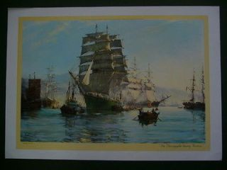 Leaving Foochow 1962 Tall Ship Sailing Print by Montague Dawson