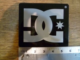 DC shoes Large Black/White Logo Sticker Decal