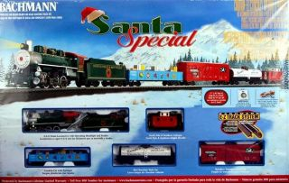 Bachmann HO Scale Train Set Analog Santa Special Set 00707