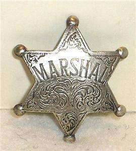 US Marshal Old West Police Badge Sheriff Ranger Deputy