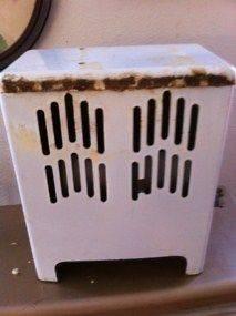 Vintage Antique A.F. Thompson Porcelain Enamel Space Room Gas Heater