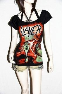 Slayer Death Metal Rock DIY Sexy Tee Tank Top Shirt
