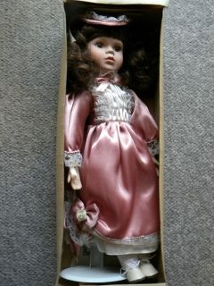 ASHLEY BELLE Bisque Porcelain Doll ELIZABETH w Certificate of