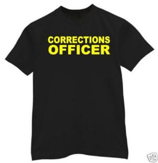 shirt M 3XL CORRECTIONS OFFICER jail police dept