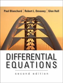 Differential Equations by Robert L. Devaney, Glen R. Hall and Paul