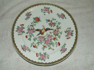 ANTIQUE DEVON WARE STOKE ON TRENT ENGLAND OLD BOW PHEASANT PLATE; SF