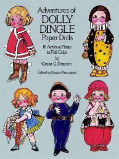 The Adventures of Dolly Dingle Paper Dolls 16 Antique Plates in Full