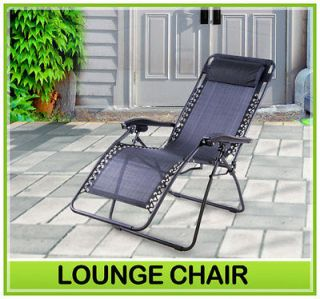New Zero Gravity Chair Folding Recliner Outdoor Lounge Chairs Patio