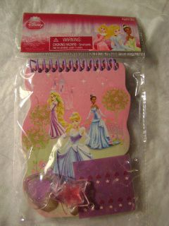 DISNEY PRINCESS SET  DIE CUT NOTEBOOK,WITH NAIL STICKERS,2 LIP GLOSS
