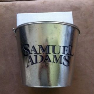 SAM ADAMS 5QT METAL BEER ICE BUCKET BAR COOLER + BONUS