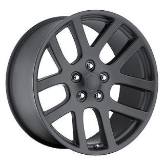 20 DODGE SRT 10 RAM 1500 TRUCK DURANGO DAKOTA MATTE BLACK WHEELS