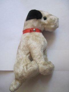 Vintage Straw Stuffed Button Eyes Steiff? Dog Terrier Toy