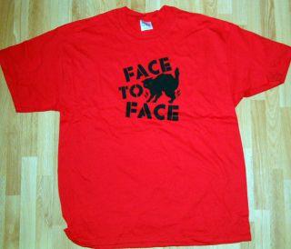 NEW FACE TO FACE T SHIRT XL PUNK ROCK POP HORROR BLACK CAT HALLOWEEN