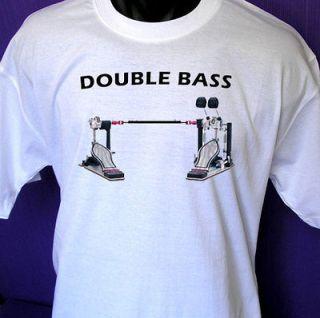 Double Bass drum pedal T shirt (drum kit,set,drummer) durm tshirt all