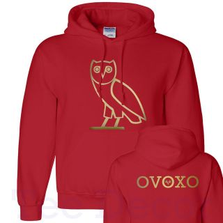 OVOXO DRAKE OVO Hoodie, Gold Logo Front and Back Hooded Sweatshirt S