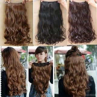 New Women Long Straight/wavy curly hair extension clip in on for human