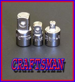 NEW 3pc CRAFTSMAN Hand Tools ratchet wrench drive ADAPTER set