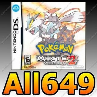 POKEMON WHITE 2 DS 3DS UNLOCKED +ALL 649 SHINY Lv100 ITEMS EVENTS