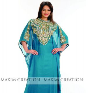 Kaftan Islamic Dress Hand Embrioderd Caftan Abaya Dubai Fashion K 24