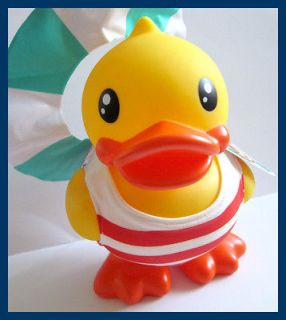 suit inflatable swim ring Standing Rubber Duck Coin Bank Turnable Head