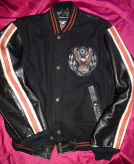 harley davidson varsity jacket in Clothing,
