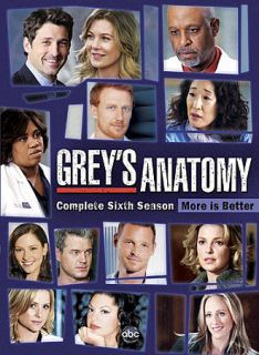 Greys Anatomy The Complete Sixth Season DVD, 2010, 6 Disc Set