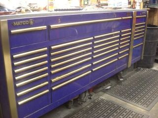 Matco 5 Bay Bank Tool Box Chest Blue Excellent Condition