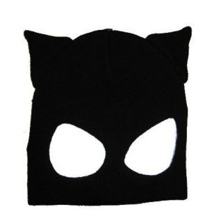 Catwoman Face Mask Half Balaclava Halloween Costume Party Think Geek