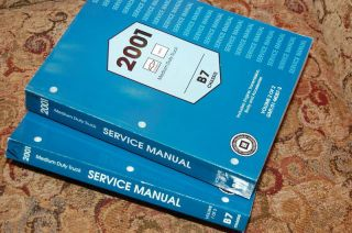 2001 Chevy GMC Medium Duty Truck B7 Service Manual Set NEW MINT Cheap