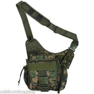 DIGITAL WOODLAND CAMOUFLAGE ADVANCED TACTICAL HIPSTER   Satchel, 11 x